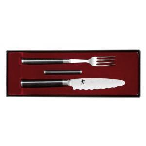 SHUN Vidlička s univerzálním nožem a podložkou