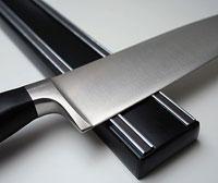 Magnetický držák na nože černý, 500mm